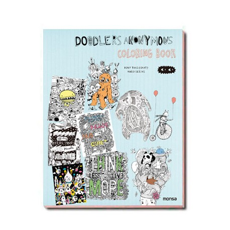 DOODLERS ANONYMOUS. COLORING BOOK